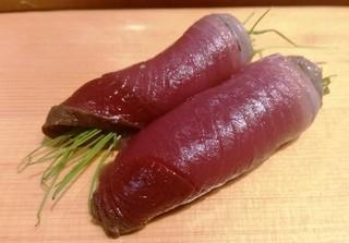 鮨 なかがわ - カツオ藁焼き