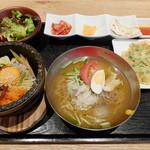 韓美膳 - 石焼きビビンバ+冷麺セット