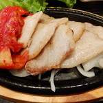 韓美膳 - 三元豚サムギョプサル アップ♪