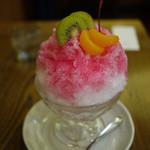 カフェ珈人 - かき氷(イチゴ)~☆