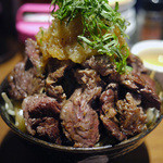 1ポンドのステーキハンバーグ タケル - 特盛ステーキ丼~☆