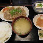さんぷらざ - 生姜焼き定食(第四回訪問)