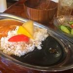 国立九三郎 - コラーゲンたっぷり蒸し鶏カレー 赤黒