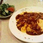 洋食Potato - オムレツライス サラダ付き