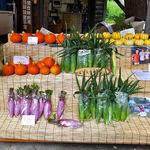 清水屋 - 店頭に並ぶ野菜類(2015年7月)