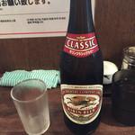新福菜館 麻布十番店 - 瓶ビール(550円)
