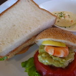 40213955 - Aセット海老とアボカドのサンドイッチ