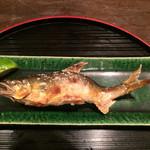 蔵喜 - コースの中の焼き魚は鮎を選択して大満足。