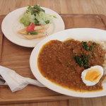 ポジティブフードカフェボウ - ランチ「レンティル豆と挽肉のトマトカレー」