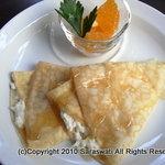 サラスワティ - しゃりしゃりレアチーズのクレープ