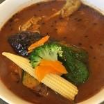 カレー一家 - チキンと野菜のスープカレー、900円です。