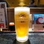 串揚げ処 味串 - 味串セットの生ビール