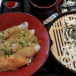 築地食堂 源ちゃん - 真鯛とサーモン胡麻タレ丼セット 790円