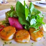 レストラン 樹葉亭 - ホタテ貝のフェメ(スモーク)サラダ仕立て(2015年7月)