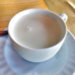 レストラン 樹葉亭 - 「Aランチコース」のカップスープ(じゃがいもと無臭にんにくの冷製スープ)(2015年7月)