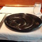 レストラン マノワ - カウンター席のテーブルセッティング(2015.7)