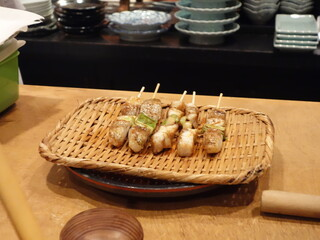 鮨人 - ノドグロの串焼き