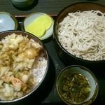 40227731 - 天丼セット(大盛り)1080円