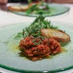 レガリア - 柔らかく煮た仔牛のトリッパ(第二胃袋)のラグーソース、バケット添え☆