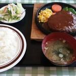 ゆーとぴあ - ハンバーグ定食