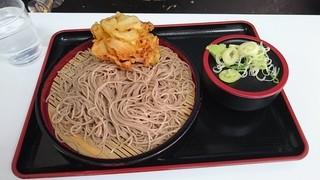 天かめ - もり蕎麦とかき揚げ340円