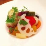 ムッシュたけぞう - 彩り野菜のマリネ