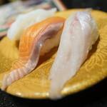 グルメ回転寿司 函太郎 - おすすめ三昧(八角、生サーモン
