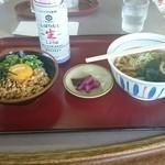 山田うどん - 料理写真:納豆オクラ丼朝定食  朝は納豆がよく似合う