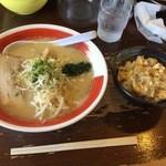 40234873 - 鶏しお白湯&ちょい玉丼(H27.7.14)