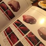 焼肉萬野ホルモン舗 - お店オリジナルの肉辞典