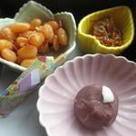 にほのうみ - 海老豆、ごりの佃煮、うばがもち