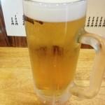 かぶら屋 - 生ビール380円