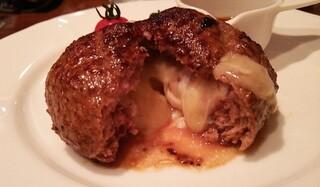 ステーキなぐら - チーズインハンバーグ