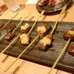 天の幸山の幸 - 特選宮崎牛の串焼き盛り合わせ15.7