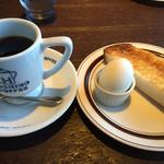 星乃珈琲店 - 料理写真:⚫︎モーニングセット  トースト ゆで卵付    星乃ブレンド=420円