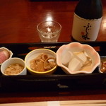 40245059 - 前菜5種盛と日本酒