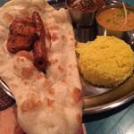 シャージ・パキスタンインドレストラン - Cセット(カレーはマトンとダル)