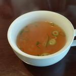 レストラン まつもと - ランチのスープ