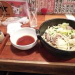 播州佐用名物(つけ麺)ホルモン焼うどん テン - ホルモン焼きうどん