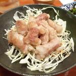 播州佐用名物(つけ麺)ホルモン焼うどん テン - マルチョウ塩焼き