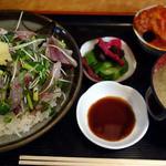 味処 はつくら - 飛魚のたたき丼定食(ランチ)