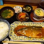 あきやま - サバみそ定食1290円