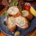 花ゑ - 料理写真:豚肉アスパラチーズ巻き600円