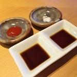 40267839 - 梅肉・塩・醤油×2