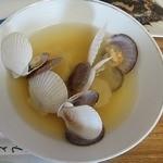 ヤマサ食堂 - ホタテ稚貝スープ