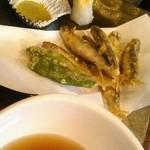 遊食酒蔵 味源 - 滋賀県産、稚鮎の天ぷら