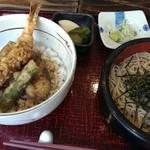 世田谷 砂場 - 天丼とせいろのセット