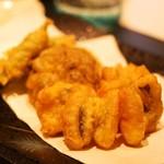 鮨 甚平 - 穴子の天ぷら 椎茸とお茄子もついてきました