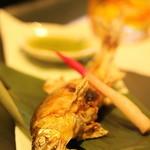 鮨 甚平 - 鮎の塩焼き