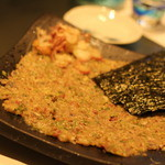 鮨 甚平 - なめろうは海苔にのせてちびちびと。